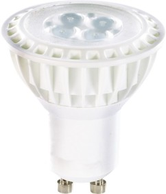 10 Spots à LED High-Power, GU10, 5 W - blanc