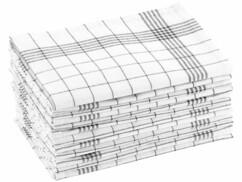 Lot de 12 torchons en coton de 50 x 70 cm chacun.