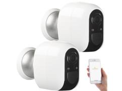 2 caméras de surveillance IP Full HD connectées IPC-480