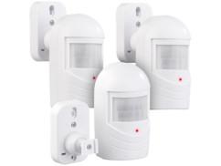 3 détecteurs de mouvement factices avec LED clignotante
