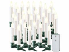 30bougies à LED sans fil pour sapin de Noël d'extérieur avec télécommande