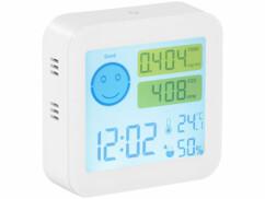 Appareil de mesure COVT/CO² avec horloge et thermomètre