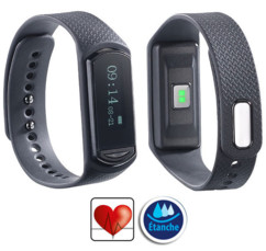 Bracelet fitness ultra-fin Bluetooth 4.0 ''FBT-40.hr'' avec rythme cardiaque