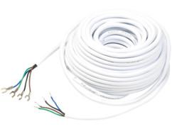 câble electrique 4 conducteurs pour visiophone vsa400 somikon et installation vidéo 15m