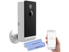 Caméra de surveillance IPC-490 VisorTech avec 2 batteries de rechange Samsung.