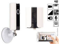 caméra de surveillance sans fil angle 180 avec articulation 360° controle par application 7links