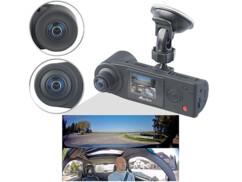 Caméra embarquée Full HD 360° avec 2caméras et accéléromètre MDV-5500.dual