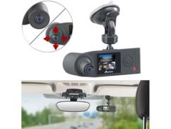 caméra de bord dash cam avec double objectif orientable intérieur habitacle et exterieur grand angle ful hd 1080 capteur sony mdv-5500 navgear