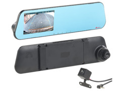 camera de bord dashcam sur retroviseur avec camera de recul automatique NAV-150.hd navgear