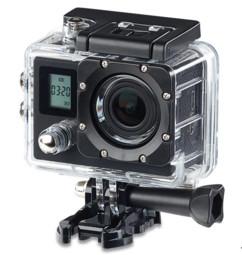 camera sport 4k etanche avec boitier et accessoires définition 4k uhd double ecran somikon