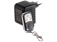 chargeur usb secteur avec camera hd espion et telecommande d'activation à distance octacam