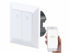 Double interrupteur connecté LHC-52 Luminea Home Control.