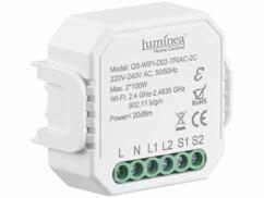Double interrupteur et variateur connecté à commandes vocales Luminea.