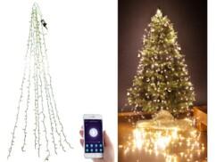 Guirlande connectée pour sapin de Noël avec 8 fils et 320 LED