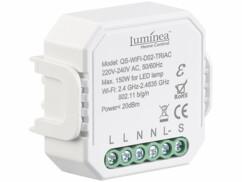Interrupteur et variateur connecté à commandes vocales Luminea.