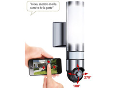 Lampe d'extérieur avec caméra IP connectée HD