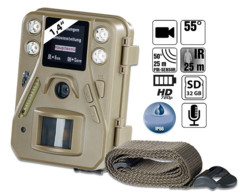 caméra de surveillance pour extérieur vision nocturne champ foret surveillance gibier betail somikon sg-520