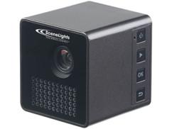 mini projecteur vidéo cube dlp avec lecteur media micro sd et wifi pour smartphone scenelights lb-6000