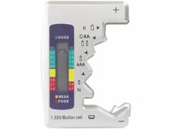 Mini testeur de piles avec écran LCD