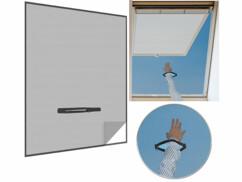 Moustiquaire avec fermeture à glissière pour fenêtre de toit