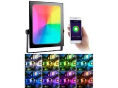 Projecteur LED d'extérieur bluetooth IP65 - 4500 lm - 60 W - RVB/CCT