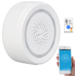 alarme 100 decibels connectée compatible iphone ios android alexa google home compatible capteurs visortech xmd