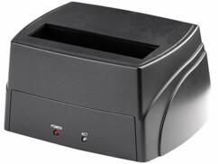 """Une station d'accueil USB pour disques durs SATA 2,5"""" et 3,5""""."""