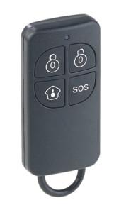 télécommande 4 boutons avec fonction sos declenchement alarme pour systeme alarme visortech xmd-3000