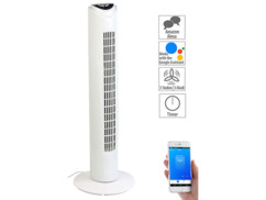 Ventilateur colonne compatible Amazon Alexa & Assistant Google (reconditionné)