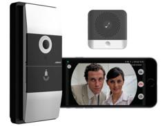 Visiophone sans fil 180° avec wifi et contrôle par application - Avec carillon