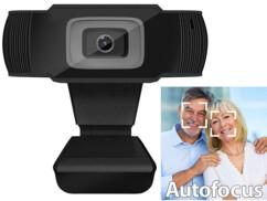 Webcam USB Full HD 5 Mpx avec mise au point automatique et micro stéréo