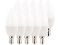 10 ampoules bougie LED E14 480 lm 270° A+ - 6 W - blanc du jour