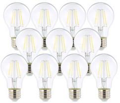 10 ampoules LED à filament - culot E27 - forme Classique - Blanc