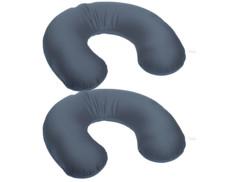 2 coussins spécial nuque ''Wellness'' à microbilles