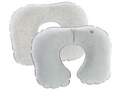 2 coussins tour de cou gonflables avec rembourrage mousse