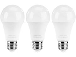3 ampoules LED E27 classe A+ Blanc neutre - 15 W
