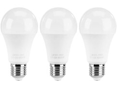 3 ampoules LED E27 classe A+ - 15 W
