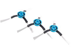 Pack de 3 brosses pour robot nettoyeur et aspirateur PCR-8500LX (NX5907) Sichler Haushaltsgeräte.