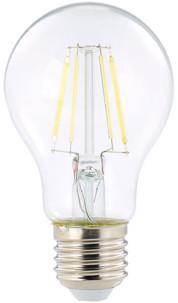 ampoule led a filament design retro avec eclairage 360 forme classique a60 culot e27 luminea version blanc