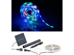 Bande à LED solaire 90 LED 3 m - 3 couleurs