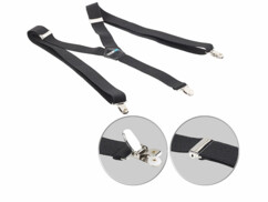 Bretelles larges en Y à 3 clips - coloris Noir