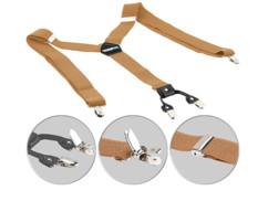 bretelles imitation cuir couleur beige style bavarois avec 4 clips