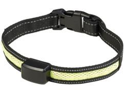 collier de promenade pour grands chiens avec LED de position et chargement par mouvement