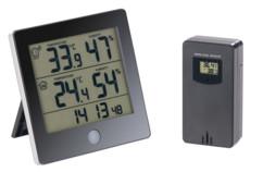 thermomètre digital et hygrometre humidité de l'air avec sonde extérieure pour double relevé infactory
