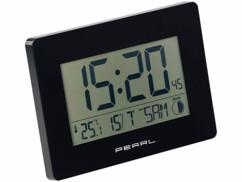 Horloge radio-piloté avec affichage de l'heure, la date, la température et des phases lunaires par Pearl