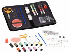 kit de couture complet avec ciseaux aiguilles metre bobines de fil dé à coudre
