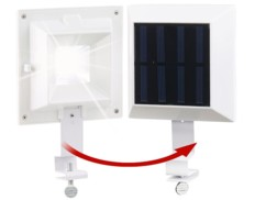 Lampe solaire 6 LED pour clôture et gouttière