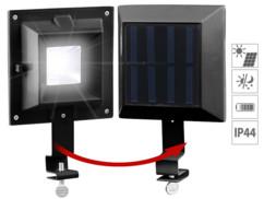 3 lampes solaires clôture et gouttière à 6 LED SMD