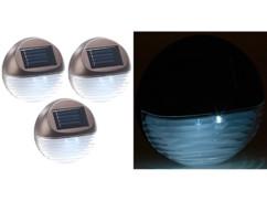 Lampes à LED solaires pour clôture & escaliers - x3