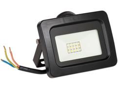 projecteur led haut efficacité energetique 10w blanc jour étanche pluie et neige fixation murale luminea